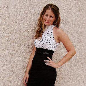 XOXO polka dot pencil skirt dress